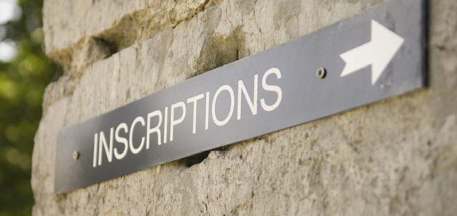 Inscriptions au secteur
